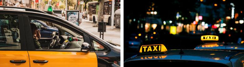 accidente en taxi